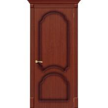 Межкомнатная шпонированная дверь Соната ПГ макоре файн-лайн BRAVO Цвет: Макоре Глухая (Товар №  ZF1083)