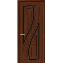 Межкомнатная шпонированная дверь Лагуна ПГ Шоколад файн-лайн BRAVO Цвет: Шоколад Глухая (Товар №  ZF1090)