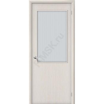 Дверь ламинированная Серия Гост Гост ПО-2 в цвете Л-21 (БелДуб) остекленная. (Товар №  ZF38613)