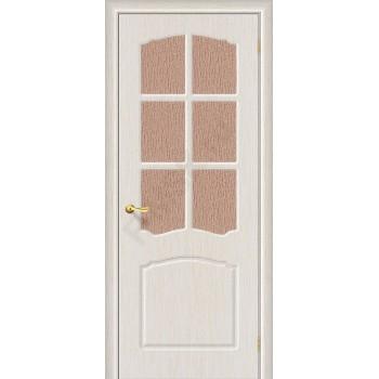 Дверь ПВХ Серия Start Альфа в цвете П-21 (БелДуб) остекленная. (Товар №  ZF38770)