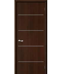Дверь ламинированная Серия 10 Декор в цвете Л-13 (Венге) остекленная. (Товар №  ZF38787)