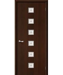 Дверь ламинированная Серия 10 Квадро в цвете Л-13 (Венге) остекленная. (Товар №  ZF38789)