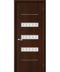 Дверь ламинированная Серия 10 Трио в цвете Л-13 (Венге) остекленная. (Товар №  ZF38788)