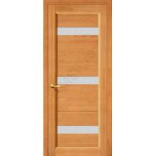 Межкомнатная дверь из Массива Вега 2 ПЧО светлый орех Vi LARIO Цвет: Светлый орех Остекленная (Товар №  ZF1116)
