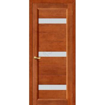 Межкомнатная дверь из Массива Вега 2 ПЧО темный орех Vi LARIO Цвет: Темный орех Остекленная (Товар №  ZF1118)
