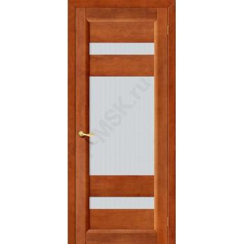 Межкомнатная дверь из Массива Вега 2 ПО темный орех Vi LARIO Цвет: Темный орех Остекленная (Товар №  ZF1115)