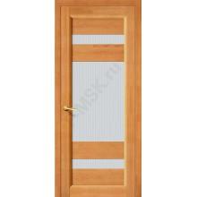 Межкомнатная дверь из Массива Вега 2 ПО светлый орех Vi LARIO Цвет: Светлый орех Остекленная (Товар №  ZF1120)