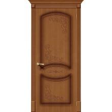 Межкомнатная шпонированная дверь Азалия ПГ орех файн-лайн BRAVO Цвет: Орех Глухая (Товар №  ZF1102)
