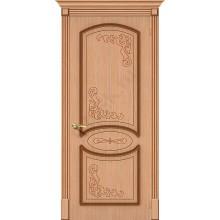 Межкомнатная шпонированная дверь Азалия ПГ дуб файн-лайн BRAVO Цвет: Дуб файн-лайн Глухая (Товар №  ZF1103)