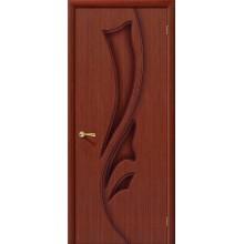 Межкомнатная шпонированная дверь Эксклюзив ПГ макоре файн-лайн BRAVO Цвет: Макоре Глухая (Товар №  ZF1105)