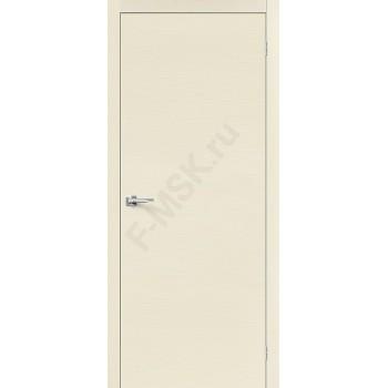 Межкомнатная дверь Вуд Флэт-0V1 - в цвете Ivory H (Товар № ZF47221)