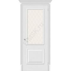 Межкомнатная дверь экошпон Межкомнатная дверь Классико-13 в цвете Virgin остекленная (Товар № ZF46963)