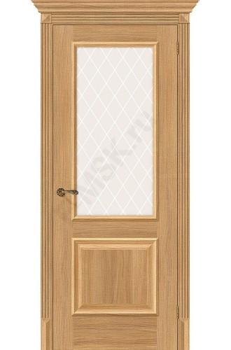 Межкомнатная дверь экошпон Межкомнатная дверь Классико-13 в цвете Anegri Veralinga остекленная (Товар № ZF46957)