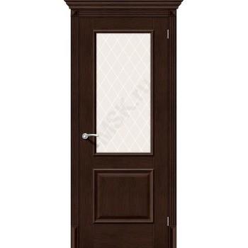 Межкомнатная дверь экошпон Межкомнатная дверь Классико-13 (new) в цвете Antique Oak остекленная (Товар № ZF46959)