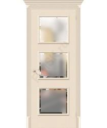 Межкомнатная дверь экошпон Классико-17.3 в цвете Ivory остекленная (Товар № ZF46967)