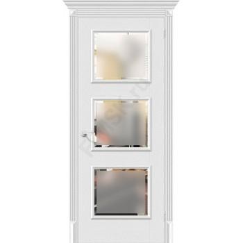 Межкомнатная дверь экошпон Классико-17.3 в цвете Virgin остекленная (Товар № ZF46971)