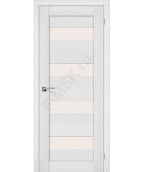 Межкомнатная дверь экошпон Межкомнатная дверь Легно-23 в цвете Virgin остекленная (Товар № ZF46991)