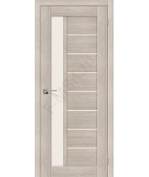 Межкомнатная дверь экошпон Серия Porta X Порта-27 в цвете Cappuccino Veralinga остекленная (Товар № ZF47023)