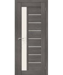 Межкомнатная дверь экошпон Серия Porta X Порта-27 в цвете Grey Veralinga остекленная (Товар № ZF47025)