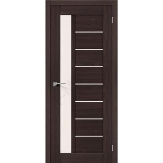 Межкомнатная дверь экошпон Серия Porta X Порта-27 в цвете Wenge Veralinga остекленная (Товар № ZF47027)