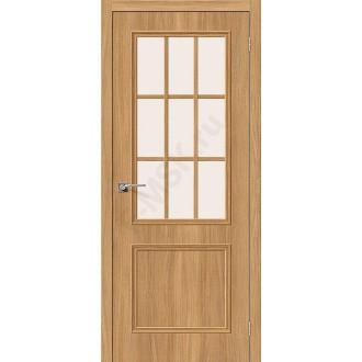 Межкомнатная дверь экошпон Симпл-13 в цвете Anegri Veralinga остекленная (Товар № ZF47033)