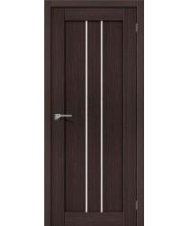 Межкомнатная дверь экошпон Серия Porta X Порта-24 в цвете Wenge Veralinga остекленная (Товар № ZF47017)