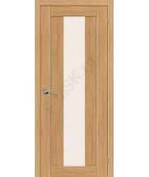 Межкомнатная дверь экошпон Серия Porta X Порта-25 alu в цвете Anegri Veralinga остекленная (Товар № ZF47019)