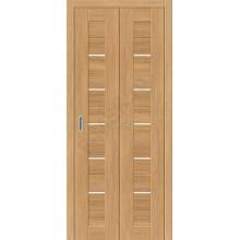 Межкомнатная дверь складная серии Porta X Порта-22 в цвете Anegri Veralinga остекленная. (Товар № ZF47291)