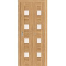 Межкомнатная дверь складная серии Porta X Порта-23 в цвете Anegri Veralinga остекленная. (Товар № ZF47297)