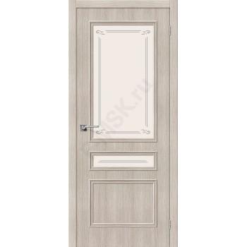 Межкомнатная дверь экошпон Симпл-15.2 в цвете Cappuccino Veralinga остекленная (Товар № ZF47041)