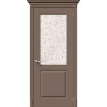 Дверь эмаль Серия Fix Блюз в цвете К-13 (Мокко) остекленная (Товар № ZF156)