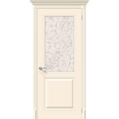 Дверь эмаль Серия Fix Блюз в цвете К-14 (Крем) остекленная (Товар № ZF154)
