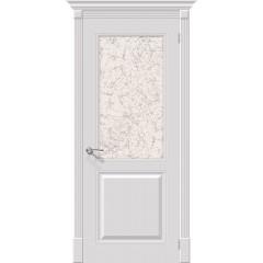 Дверь эмаль Серия Fix Блюз в цвете К-23 (Белый) остекленная (Товар № ZF152)