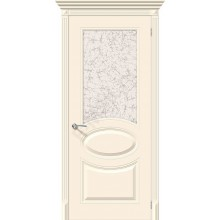 Дверь эмаль Серия Fix Джаз в цвете К-14 (Крем) остекленная (Товар № ZF192)