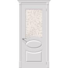 Дверь эмаль Серия Fix Джаз в цвете К-23 (Белый) остекленная (Товар № ZF194)