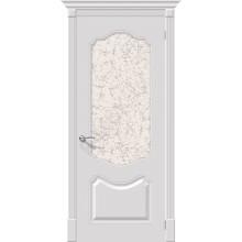 Дверь эмаль Серия Fix Фолк в цвете К-23 (Белый) остекленная (Товар № ZF172)