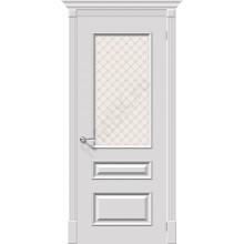 Дверь эмаль Серия Fix Фьюжн Плюс в цвете К-23 (Белый) остекленная (Товар № ZF180)