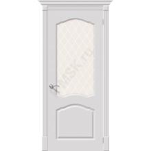 Дверь эмаль Серия Fix Танго в цвете К-23 (Белый) остекленная (Товар № ZF206)