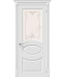 Дверь эмаль Скинни-21 Аrt в цвете Whitey остекленная 70/200 (Товар № ZF165782)