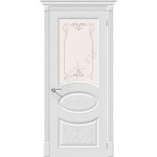 Дверь эмаль Скинни-21 Аrt в цвете Whitey остекленная 70/200