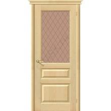 Дверь из массива без отделки М5 в цвете Без отделки остекленная. (Товар № ZF106)