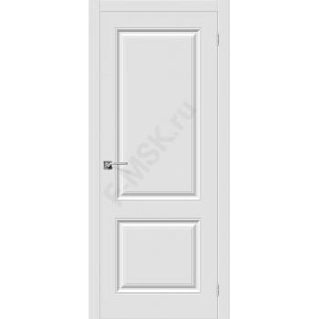 Дверь ПВХ Скинни-12 в цвете П-23 (Белый). (Товар № ZF148)