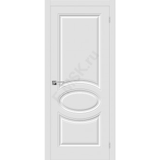 Дверь ПВХ Скинни-20 в цвете П-23 (Белый). (Товар № ZF156)