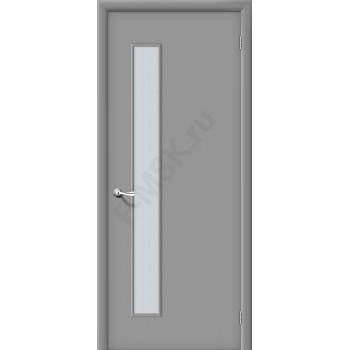 Дверь строительная Гост ПО-1 в цвете Л-16 (Серый) остекленная. (Товар № ZF38)