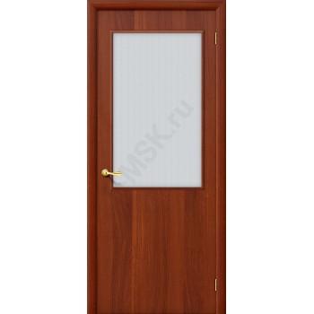 Дверь строительная Гост ПО-2 в цвете Л-11 (ИталОрех) остекленная. (Товар № ZF26)