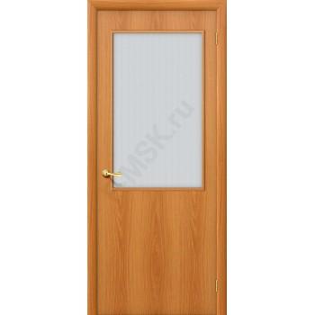 Дверь строительная Гост ПО-2 в цвете Л-12 (МиланОрех) остекленная. (Товар № ZF24)