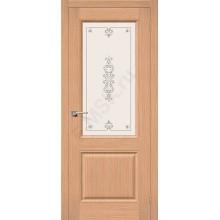 Дверь шпонированная Статус-13 в цвете Ф-01 (Дуб) остекленная (Товар № ZF90)