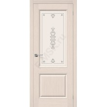 Дверь шпонированная Статус-13 в цвете Ф-20 (БелДуб) остекленная (Товар № ZF94)