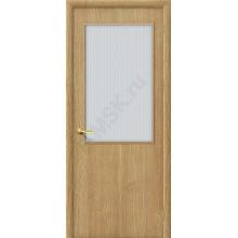 Дверь строительная Гост ПО-2 в цвете Т-01 (ДубНат) остекленная. (Товар № ZF20)