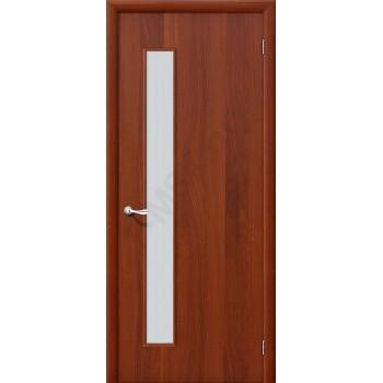 Дверь строительная Гост ПО-1 в цвете Л-11 (ИталОрех) остекленная. (Товар № ZF42)